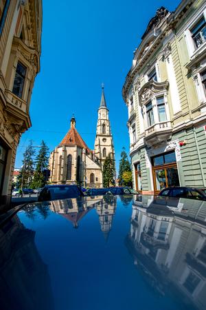 napoca: Michaels church in Cluj Napoca in Romania