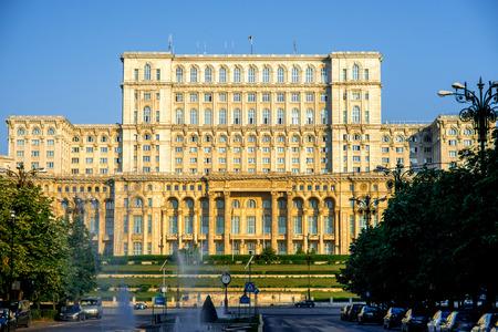 bucuresti:  Parliament in Bucharest, Romania Stock Photo