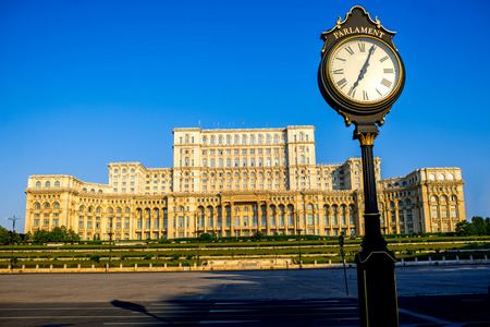 rumania: Palace of the Parliament in Bucharest, Romania