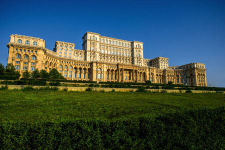 Palast des Parlaments in Bukarest, Rumänien Standard-Bild - 43573924