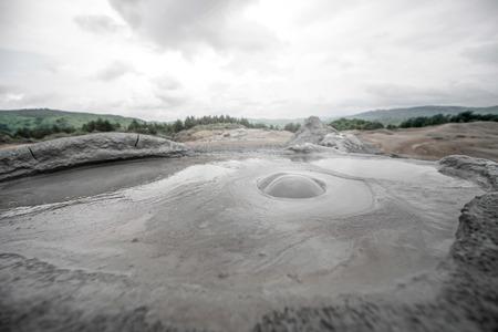 subduction: Strange mud vulcanoes in Buzau in Romania