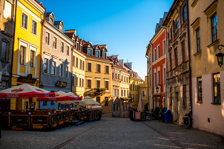 lublin: LUBLIN, POLAND - JULY 28 2015: Old town in the city center of Lublin in the morning