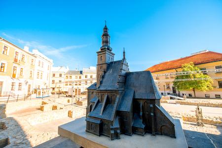 lublin: Church model in Lublin city in Poland