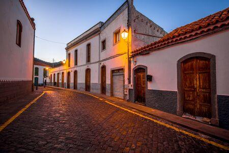 bartolome: Street view in San Bartolome de Tirajana town in Gran Canaria island in the evening