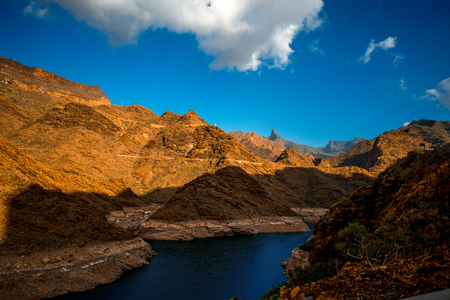 western part: Gran canyon in the mountains on western part of Gran Canaria island