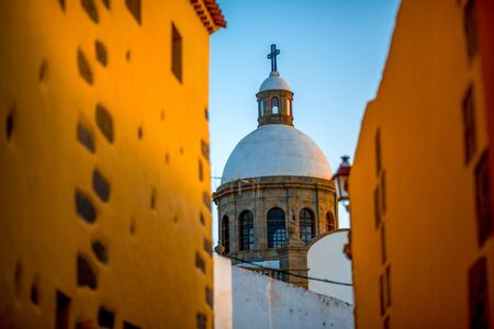IGLESIA: Aguimes town in the eastern part of the island of Gran Canaria in the Las Palmas province in the Canary Islands Foto de archivo