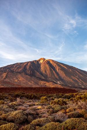 island: Volcano Teide on Tenerife island on the sunset