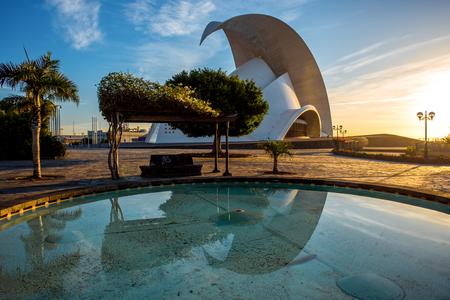 santa cruz de tenerife: SANTA CRUZ DE TENERIFE, SPAIN - DECEMBER 17, 2015: Auditorio in Santa Cruz de Tenerife, Canary Islands, Spain. This auditorium was designed by famous architect Santiago Calatrava