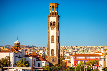 immaculate: Catholic church of the Immaculate Conception in Santa Cruz old town center on Canary islands, Spain Stock Photo