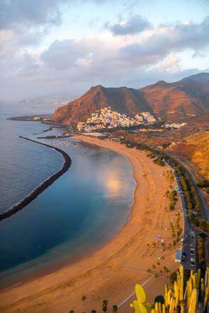 santa cruz de tenerife: Aerial view on Teresitas beach near Santa Cruz de Tenerife on Canary islands, Spain.