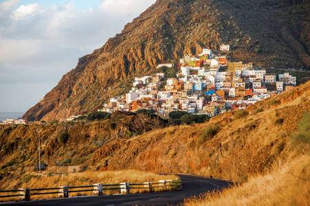 santa cruz de tenerife: View on Las Andres village near Santa Cruz de Tenerife on Canary isalnd in the morning, Spain
