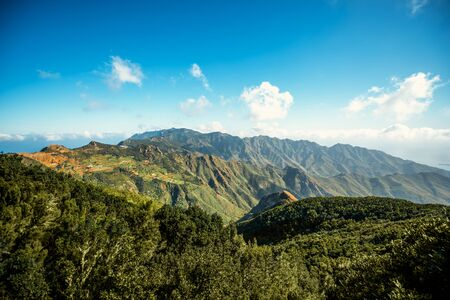 northeastern: Beautiful landscape view on natural park Anaga in northeastern part of Tenerife island, Spain Stock Photo