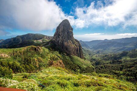 Agando cliff near Garajonay park on La Gomera island Banco de Imagens - 52900015