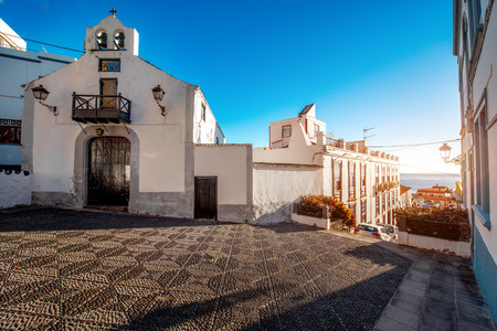 palma: City street view in Santa Cruz de La Palma old town on La Palma island in Spain Stock Photo