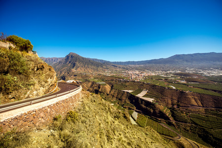 western part: Landscape view on the western part of La Palma island from Del Time view point in Spain