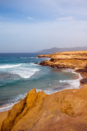 western part: Sand coast near La Pared village on the south western part of Fuerteventura island
