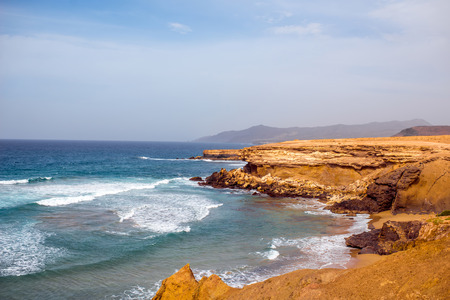 south western: Sand coast near La Pared village on the south western part of Fuerteventura island