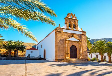 pena: Nuestra Senora de la Pena church near Betancuria village on Fuerteventura island in Spain Stock Photo