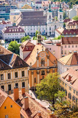 Aerial view on Graz city in Austria