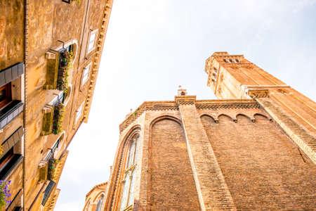dei: View on basilica dei Frari in Venice Stock Photo