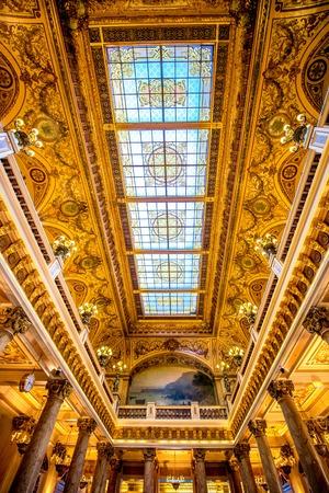 carlo: Monte Carlo, Monaco - June 13, 2016: Inner celling of the hall in Monte Carlo casino in Monaco
