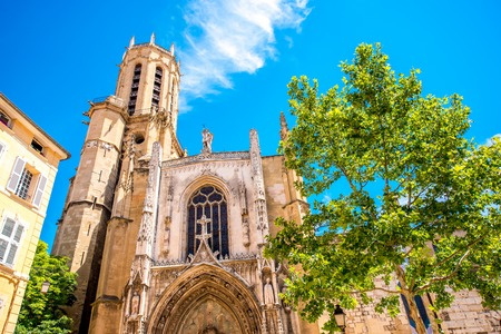 Saint Sauveur gothic cathedral in Aix-en-Provence in France Stock Photo