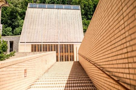 parliaments: Vaduz, Liechtenstein - July 01, 2016: Parliament building designed by Hansjoerg Goeritz Architecture studio and was built in 2008 in Vaduz, Liechtenstein.