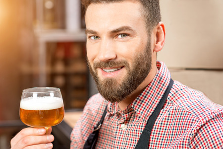 the brewer: Brewer with beer
