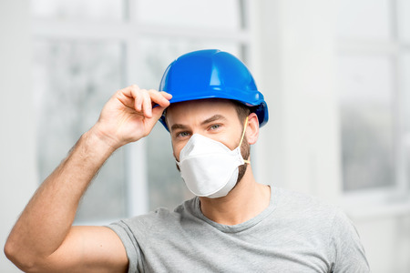 Builder with protective mask