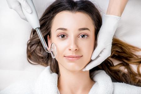 Womans facial treatment Stok Fotoğraf
