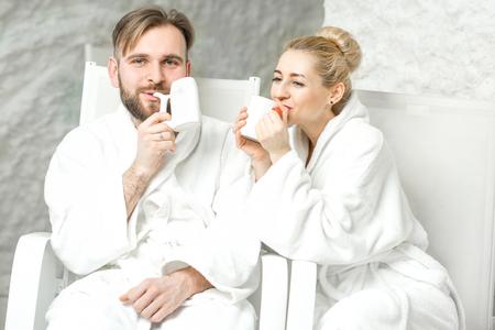 Couple in the salt room