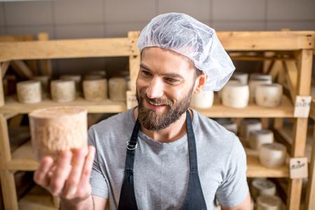 Cheese maker at the cellar