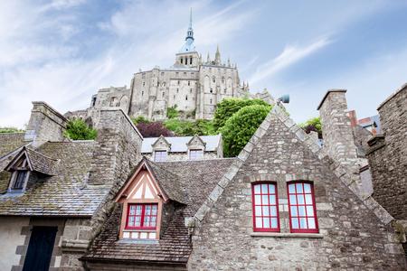 Buildings on the Mont Saint Michel island