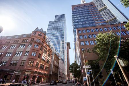 Street view in Frankfurt city Stock Photo - 81025783