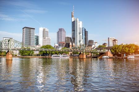 Frankfurt am Main stadsbeeld Stockfoto