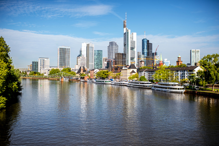 frankfurt am paysage urbain Banque d'images