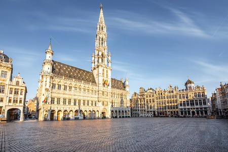 Central square in Brussels city 스톡 콘텐츠