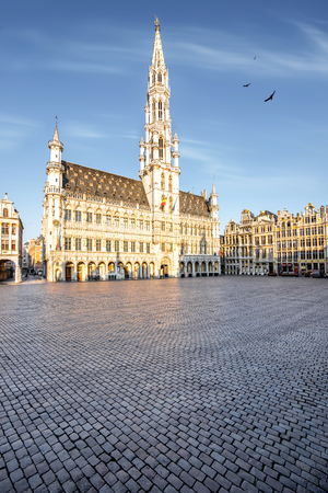 Central square in Brussels city 免版税图像