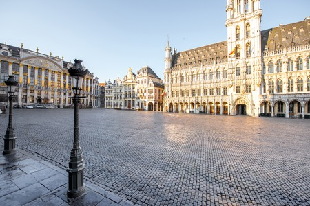 Central square in Brussels city Imagens