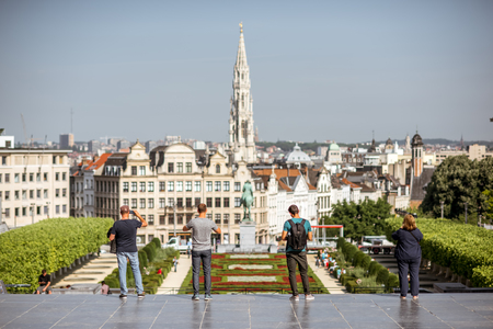 Tourists in Brussels Editorial