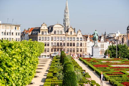 Place des Arts à Bruxelles Banque d'images - 81679495