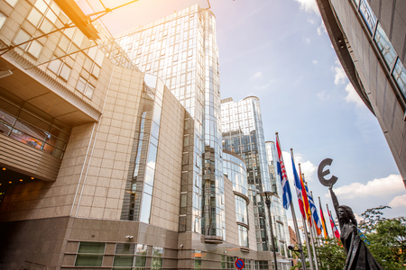 European parliament building in Brussels Imagens - 81699806