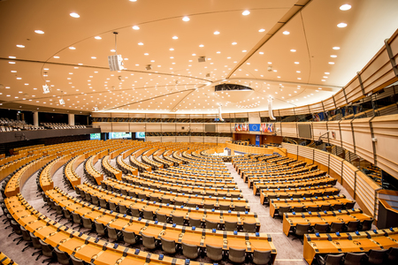 European parliament interior 免版税图像 - 81049416