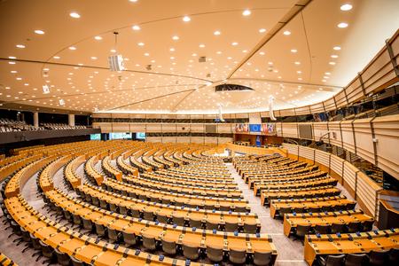 Interior del Parlamento Europeo Foto de archivo