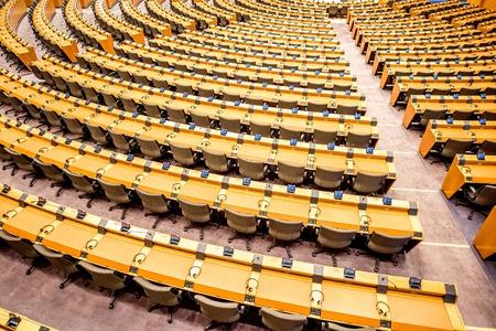 Interieur van het Europees Parlement Stockfoto