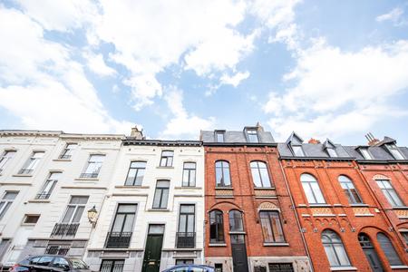 ブリュッセルの住宅 写真素材