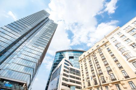 ブリュッセル市内の高層ビル 写真素材
