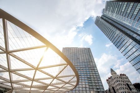 Skyscrapers in Brussels city Standard-Bild