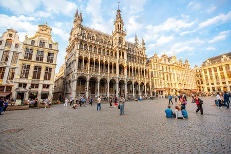 Central square in Brussels city Editorial