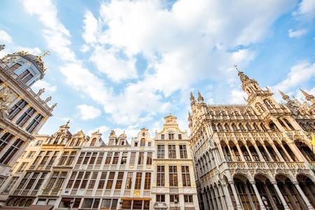 브뤼셀 시내 중앙 광장 스톡 콘텐츠